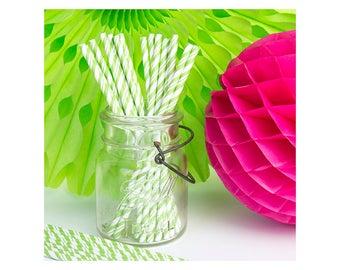 Lime Green Straws, Paper Straws, Party Straws, Straws, Green Straws, Cake Pop Sticks, Drinking Straws, Party Supplies, Set of 24