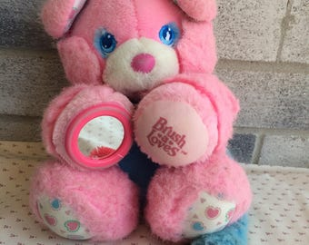 TYCO Brush-a-loves Plush,  Pink and Blue Plush Brush a Loves toy