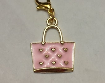 Pink Fashion Purse Dangle