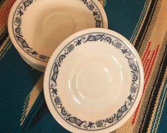 Vintage Corelle Corning Livingware Old Town Blue Onion Saucers