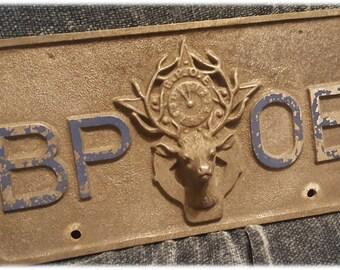 Vintage ~ Rare ~ HTF ~ License Plate ~  BPOE ~ Elks ~ Lodge ~ Club ~ Elk Head ~  Benevolent & Protective Order of Elks ~ Incredible Find!