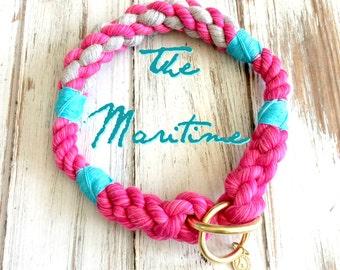 The Maritime design Rope Collection - Dog Collar, Slip Collar, Training Collar, Snap hook Collar