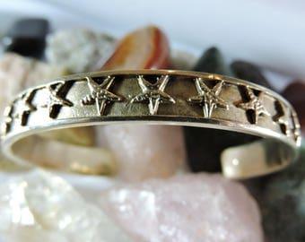 Cuff Bracelet Stars Sterling Silver