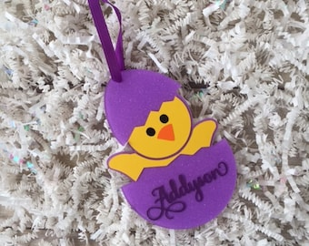 Easter Basket Baby Chick Tag, Baby Easter Chick Basket Tag, Easter Gifts for Kids, Grandkids Easter Gift, Easter Basket Gift