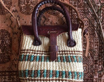 Moroccan Leather And Kilim Bag