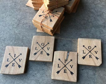 Reclaimed Barn Beam Coasters