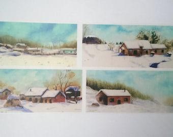 Design Washi tape snow houses snow
