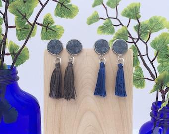 Druzy & Tassel Earrings