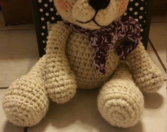 Hand made crocheted teddy bear