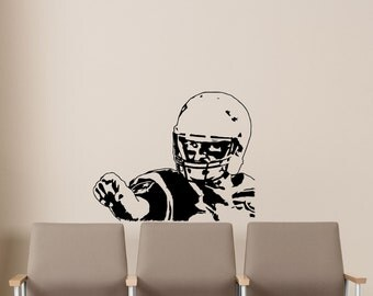 Tom Brady Wall Vinyl Decals NFL New England Patriots American Football Sticker Home Interior Murals Art Sport Gym Decor 68i