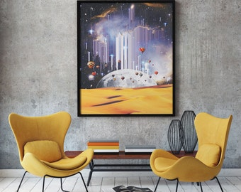 Surrealist Art, Surreal Print, Surrealism, Modern Surrealism, Home Decor, Wall Art, Modern Decor