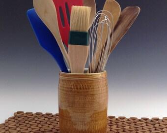 ceramic utensil holder | etsy
