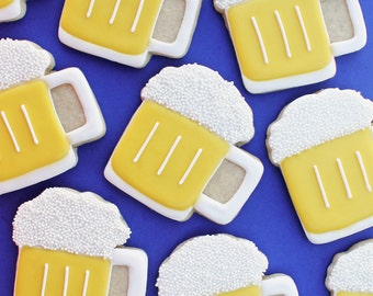 Beer Decorated Sugar Cookies