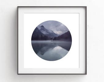 Digital Download | Blue Landscape Print | Wall Art Print