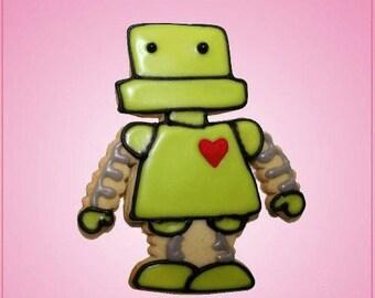 Pink Roger Robot Cookie Cutter