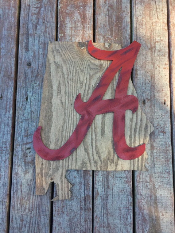 Alabama sports fan wall decor roll tide pallet by for Alabama football wall mural