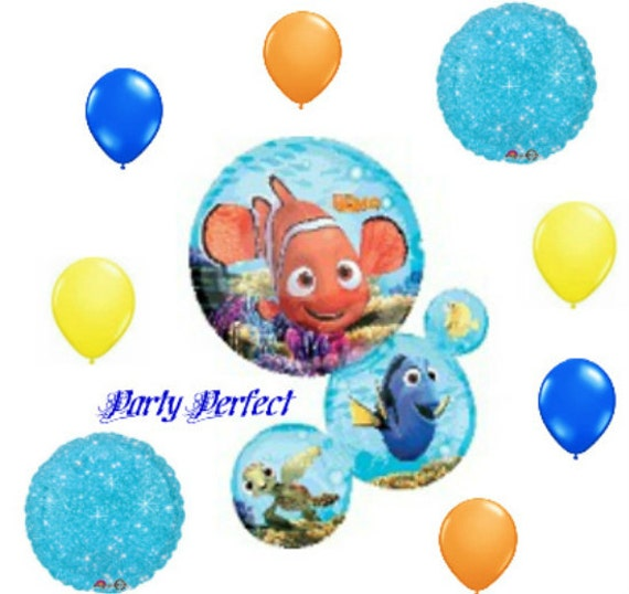 9 Piece Finding Dory Nemo Cluster Birthday Party Balloon