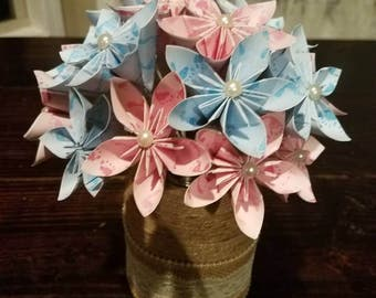 Baby Shower Flowers, Baby Shower Centerpieces, Baby Shower Decor, Paper  Flowers, Paper