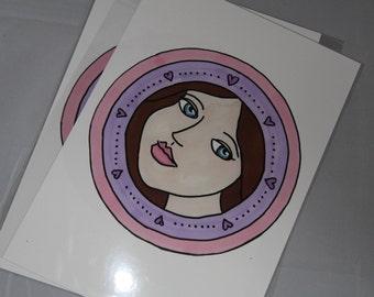Sweet Girl Mandala - Art Print