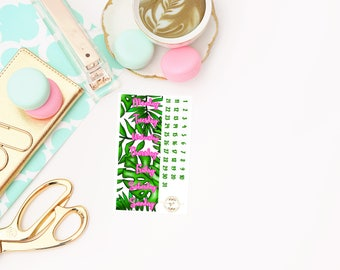 Pretty Wild Date Covers add on, planner stickers