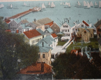 Provincetown Harbor View from Town Hall - framable print -  for Sea Lovers, Fisherman Cape Cod Boston Harbor Ptown Cape Cod Lobster Pot