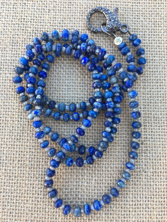 Lapis & Labradorite Wrap Necklace