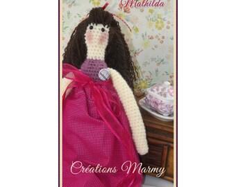 Tilda Mathilda poupée au crochet, doll hook