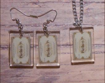 Harry Potter Platform 9 3/4 Resin Necklace or Earrings