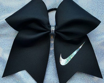 Holographic Nike Cheer Bow / Softball Bow! Many colors!