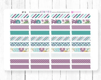 Washi Strips Planner Stickers April EC Colors | AP-14