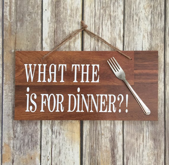 Cute Kitchen Signs: Items Similar To What The Fork Is For Dinner Sign, Kitchen