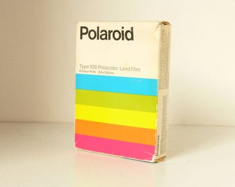 Unused Polaroid Polacolor Type 108 Film For Polaroid Land Cameras - Sealed Packed With Original Box