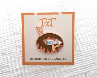 Donut Girl Pin