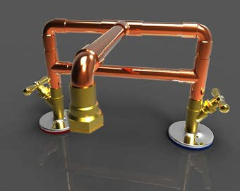 "Copper Bathroom Faucet 4"" or 8"""