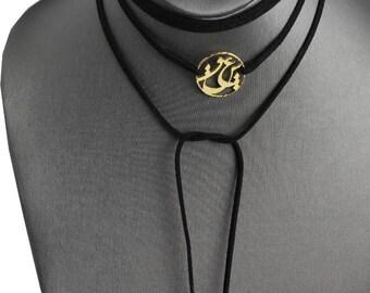 Sterling Silver 24K gold Chocker wrap Necklace