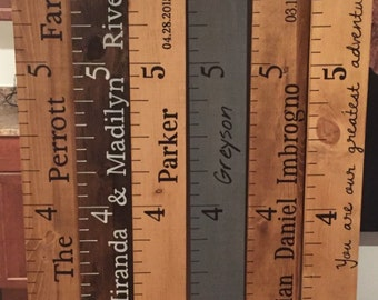 Wooden custom growth charts- HUGE SALE