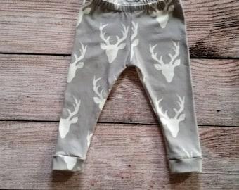 Baby/ Toddler Leggings/ Art Gallery Deer Leggings