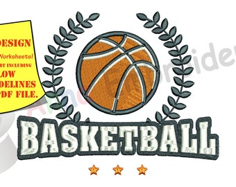 Basketball Ball Embroidery Design-Machine Embroidery Patterns- Sports-Instant Download-PES