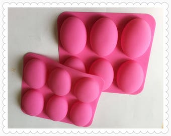 6holes oval goose egg silicone soap molds cold soap molds diy baking tools for cake mousse bread bath supplies