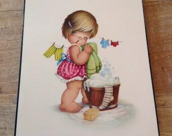 """Illustration vintage """"washing machine"""""""