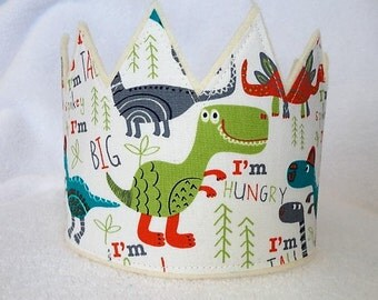 Dinosaur Birthday Crown, Dinosaur Crown, Dinosaur invitation, Dinosaurs, Birthday Party Crown, Boys Birthday Crown, , Party Hats, Photo Prop