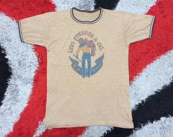 Vintage 70s Levis Saddleman Tee T - shirt Levi's