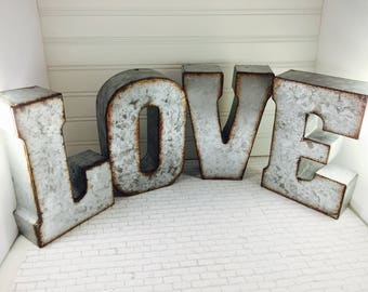 Large Metal Alphabet Letters Captivating Large Metal Letters  Etsy Decorating Inspiration