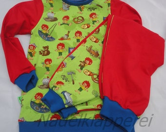 Pajamas Pumuckl green (size on request up to 110-116)
