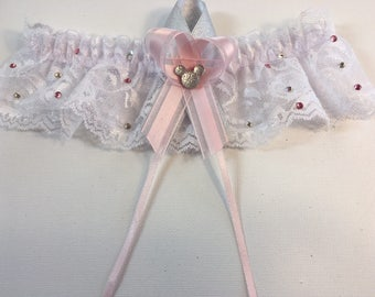 Mickey Mouse Wedding Garter Customized to Your Colors