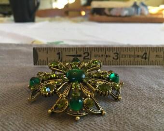 Stunning Green Brooch