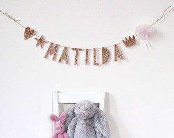 Custom Felt and Glitter Garland/Banner