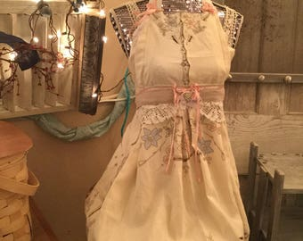 Apron Made From Vintage Table Linen