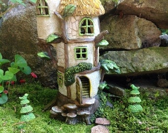 Fairy house for miniature fairy garden gnome home enchanted accessory