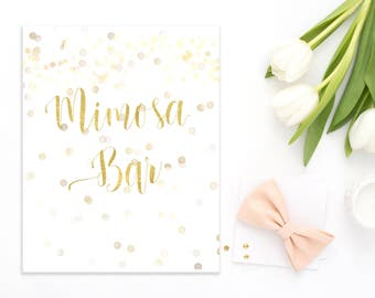 Mimosa bar sign Instant Champagne bar sign Download Bubbly Bar Sign Mimosa bar printable Confetti Gold Bridal Shower Decor Mimosa sign idr13